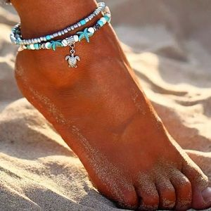 Jewelry - Starfish and Sea Turtle Ankle Bracelet